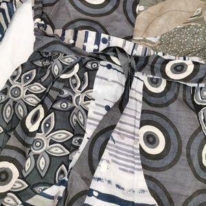 Desigual Tops - Desigual   Blue Geometric Print Tie Waist Tunic